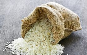 Rice in a small bag